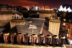 The old bits of town are still the best (Ray Byrne) Tags: city uk england urban night canon wow newcastle 350d rooftops millenniumbridge tyneside chimneys sagemusiccentre raybyrne balticmillartgallery byrneout byrneoutcouk webnorthcouk