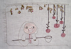 Picking apples (Annika Sandin) Tags: annika sandin embroidery stitch