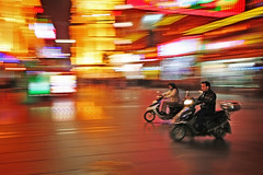 Speeding (waynemethod) Tags: china color colour bike speed interestingness colorful shanghai save3 save7 save8 100v10f delete save save2 save9 save4 500v50f save5 save10 colourful save6 1000v100f panning savedbythedeltemeuncensoredgroup topf200 onetopfave