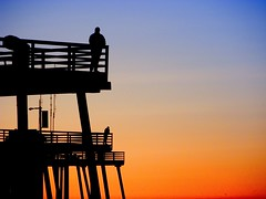 Men on Pier (Tonym1) Tags: sunset sky beach pismo