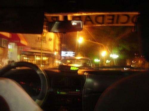 Desde el taxi