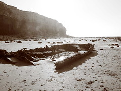 "Ship-Wreck<br /><span style=""font-size:0.8em;"">Hull of a scuttled boat on Hunstanton Beach</span> • <a style=""font-size:0.8em;"" href=""https://www.flickr.com/photos/87605699@N00/96283815/"" target=""_blank"">View on Flickr</a>"