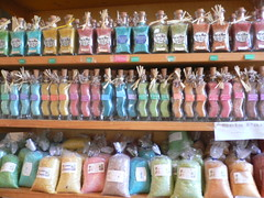 Salt (TinkerBells) Tags: pink blue orange green colors fotosencadenadas bottle many too bathsalts