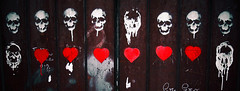 love & death (patrick wilken) Tags: red italy love death skull graffiti heart valentine napoli naples valentines stvalentinesday
