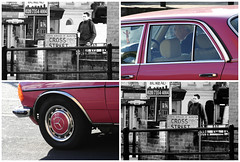 Crossover (fabbio) Tags: london angel mercedes latte islington canoneos350d essexroad londonboroughofislington mitica recomposition crossstreet islingtonangel pinkmercedes sleepyinthemorning uniformementepallida grouplondonalt