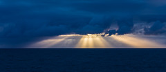 Four in the morning (Per-Karlsson) Tags: ocean morning light sea summer seascape water rain night clouds gold ray atlantic lys sunray waterscape rainshowers norwegiansea canoneos6d