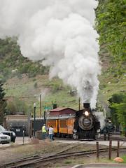 DSNG487VerticalDurangoCO6-13-15 (railohio) Tags: colorado trains steam durango narrowgauge d90 durangosilverton dsng 061315 trains75