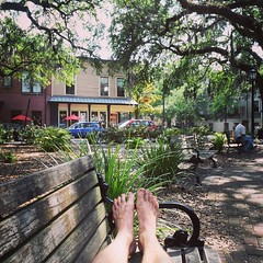 Barefoot in Savannah. #TheWorldWalk #lifeisgood #savannah #travel #twwphotos