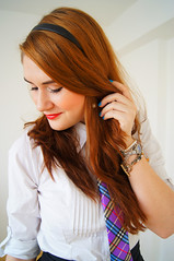 Red Headed Beauty 2 (Mysuitandtie) Tags: school 3 sexy smart shirt ties clothing uniform suits police tie knot business suit shirts button windsor celebrities uniforms collar neckties waistcoat necktie peice stylish classy dapper businesspeople strict shirtandtie businesswomen neckwear buttoned buttondownshirt selfies businesswear