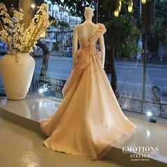 """"""" The Blossom """" BRI V.10  Refined and Elegance ,  Our new collection   #emotionsatelier_bridal    การสรรสร้างงานศิลป์ ที่เกิดขึ้นจากแรงบันดาลใจ หลากหลายอารมย์ ทั้งจากตัวช่างเสื้อเอง หรือจากความต้องการของลูกค้าแล้วผ่านขบวนการความคิดของช่างเสื้อรวมกันออกมาเ"""