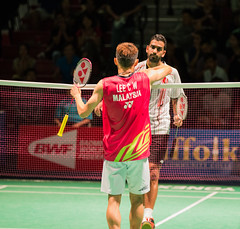 Lee Chong Wei Closing HandShake with Rajiv Ouseph (KW0326) Tags: county new york england college island gold us suffolk community long open grand prix lee malaysia ms brentwood wei chong badminton rajiv qf bwf 2015 ouseph usopen2015yonexusopen