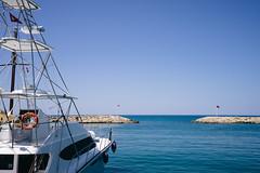 Ready to go (christianreimer) Tags: sea haven turkey boot boat meer mediterranean side urlaub flags trkei antalya hafen tr flaggen mittelmeer grandaqua sidebelediyesi