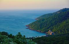 Son Tra Bay (free3yourmind) Tags: blue trees sea sky green nature bay vietnam danang sontra