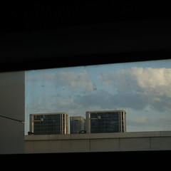 DSC06886 (The Man-Machine) Tags: sky clouds office dirt cropped airconditioners dirtywindow hiptocropsquare