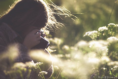 Voitglnder girl (ErlandG) Tags: camera light portrait sunlight girl childhood norway hair photography wind voitglnder