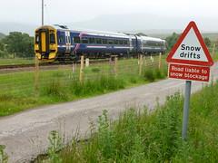 158725 (SRDemus) Tags: kildonanstation 158725 class158 scotrail kildonan helmsdale thefarnorthline dieselmultipleunit sutherland first