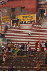 Stairs and Ghats (saish746) Tags: city morning people woman sun india man men heritage history girl river naked nude temple death boat women worship breast place riverside outdoor indian avatar lord holy experience sacred varanasi hanuman bathing shiva sublime hindu hinduism dip kashi oldest ganga asi ganges pradesh cremation ghats banaras aarti pilgrims benaras ghat kedar uttar kaal bihar vishwanath dasaswamedh manikarnika bhairav harishchandra dasaswameth
