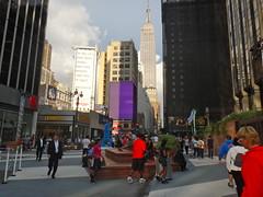 33rd Street Pedestrian Plaza (quiggyt4) Tags: plaza nyc newyorkcity sculpture newyork streets publicspace newjersey manhattan broadway arc pedestrian midtown amtrak penn gateway gothamist publicart donaldtrump billyjoel trump msg madisonsquaregarden rangers streetscape pennstation lichtenstein njtransit 7thavenue knicks njt newyorkknicks nyknicks carmelo roylichtenstein ronpaul 33rdstreet vornado ows livablestreets streetclosure occupy walkable walkability livability occupywallstreet