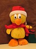 6491 Donny Duck Waiting for Xmas with his stocking at the reaady (Andy - Busyyyyyyyyy) Tags: 20161214 ddd donnyduck hhh mmm musicalduck redhat rrr xmas2016 yellow yyy