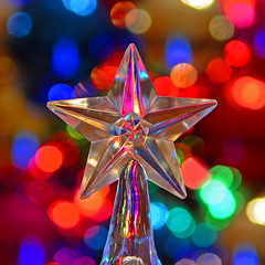 Star (davidwilliamreed) Tags: dof bokeh star christmaslights vivid colors bright squareformat