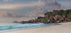 Grande Anse (GimmeLight) Tags: seychelle grandnase sunrise sony ladigue wave clouds rocks sea sand beach
