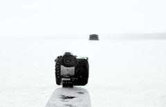 ice shanty (paulh192) Tags: winter ice lake water snow icefishing nikon iceshanty white blackandwhite michigan grandrapids reedslake leica