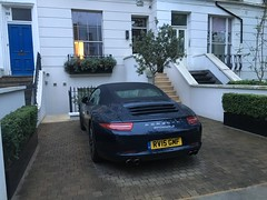 Property prices in London are extremely expensive. If you have a 911 outside i guess you manage!