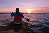Lets Pretend it's June... (deanspic) Tags: lakestlawrence stlawrenceriver canoe canoeing paddle paddling 100paddles 120100 wintercanoeing winter g3x byfilter sunset pastel river waves chop splash