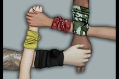 "Mesh Wrist Wrap ""Fronzy"" (..:: OPOPOP Design ::..) Tags: opopop hud colors cam bandana unisex bracelet secondlife wrist wrapped"