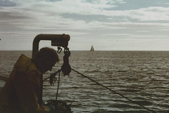 Out at sea with my old man (KathrynYoung3) Tags: myoldman expiredfilm irishsea earlymorningcatch sea early cold