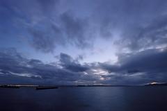 The Bay (marq4porsche) Tags: san francisco bay berkeley california united states canon eos 3 ef 1635 f4 kodak ektar 100 film analog filmisnotdead landscape sky skies ocean clouds cloudy weather evening blue hour
