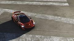 McLaren P1 @ Top Gear Test Track (polyneutron) Tags: car photography mclaren p1 orange supercar forza motorsport fm6 forza6 apex pc photomode