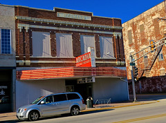 Arcadia Theatre, Olney, IL (Robby Virus) Tags: olney illinois il marquee arcadia theatre theater cinema movies redmans lodge fraternal organization neon sign signage