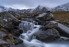 'Snowmelt' - Cwm Idwal, Snowdonia (Kristofer Williams) Tags: cwmidwal afonidwal river falls mountains snowdonia wales rocks landscape longexposure twilight winter snow melt ogwenvalley eryri