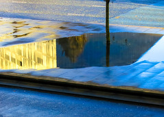 BRYAN_20161118_IMG_9989 (stephenbryan825) Tags: liverpool mannisland strand architecture blue buildings glass golden graphic pavement puddle reflection road selects tree yellow