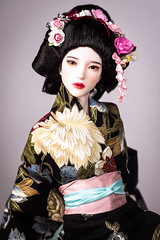 Geisha (Amadiz) Tags: wig wigs amadiz amadizstudio abjd doll dolls fashion iplehouse bjd hairstyle costume portrait fid miho fantasy asian princess luxury hairdo geisha japanese japan