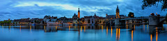 Blue Hour at Kitzingen - Lower Franconia, Germany (dejott1708) Tags: kitzingen lower franconia bavaria germany landscape cityscape night shot panorama reflections long exposure lzb langzeitbelichtung