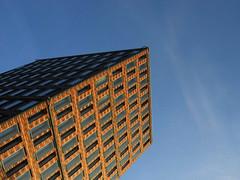 Tessellation (Ed Sax) Tags: ludwigerhardstrase ludwigerhardt zitronenjette fassade design klinker backstein brick blau orange rot braun muster fenster edsax fascade window architecture blue red brown sky clinker art architektur