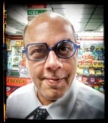 Doktor Scorpio i presume... (ThePolaroidGuy [CensoredϟRestricted]) Tags: thepolaroidguy masterphotographer selfportrait selfie square circle glasses ed edward drake edwarddrake photographer 2017 hdr blue directlook doktor doctor