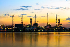 Refinery plant (Patrick Foto ;)) Tags: morning blue light sunset chimney sky plant industry metal closeup night sunrise evening twilight construction rotterdam energy industrial factory technology tank smoke pipe engineering structure storage steam gas equipment pollution chemistry oil production environment gasoline heavy refinery pipeline engineer fuel sustainable global chemical petroleum manufacturing pollute petrochemical pollutant refine refinement