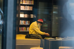 Concentration littraire (misterblue66) Tags: brussels yellow jaune book concentration reader library bruxelles oldman amarillo giallo promenade geel livre bibliotheque lecteur vieilhomme d3200