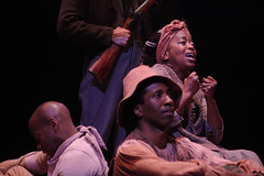 (L to R) Ivory McKay (Ensemble), Omari Tau (Ensemble), Jennifer Leigh Warren (Ensemble) in Big River, produced by Music Circus at the Wells Fargo Pavilion June 23-28, 2015. Photos by Charr Crail.