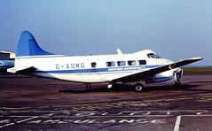 G-ASMG DH Dove Bae CVT 25-03-82 (cvtperson) Tags: airport dove 8 dh british coventry 104 aerospace cvt egbe gasmg