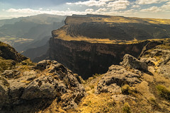 Steep Drops in the Simien Mountains (departing(YYZ)) Tags: africa travel mountains nature landscape outdoors nationalpark sony dramatic windy ethiopia alpha a7 steep eastafrica simienmountains 14mm samyang