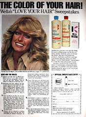 "Wella Balsam ""Love Your Hair"" Sweepstakes 1977 Print Ad (farrahcollector) Tags: show love beauty vintage hair print tv ad advertisement shampoo your angels 70s 1970s 1977 balsam collectable farrah fawcett charlies sweepstakes wella"