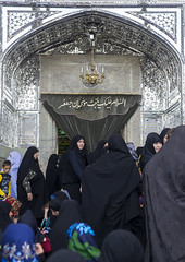 Pilgrims At The Shrine Of Fatima Al-masumeh, Qom Province, Qom, Iran (Eric Lafforgue) Tags: people building glass vertical architecture religious outdoors photography mirror women shrine asia iran islam faith religion culture mirrors persia mosque architectural womenonly iranian spirituality tradition orient groupofpeople pilgrimage pilgrim islamic pilgrims placeofworship qom ghom famousplace  mirrorwork  5people colourimage qum  iro  masumeh nonwesternscript  qomprovince iran150857