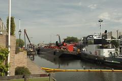 kraancrash Julianabrug-7295 (leoval283) Tags: bridge crash cranes pontoons ponton alphenaandenrijn alphen julianabrug hijskranen brugdek