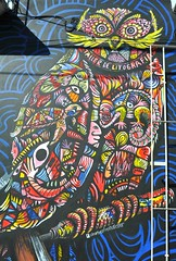 Mural Owl Tecolote Oaxaca Mexico (Ilhuicamina) Tags: art graffiti paintings murals mexican walls owls oaxacan