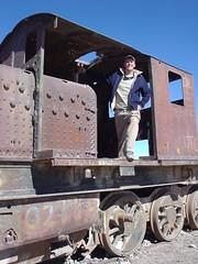 Train graveyard, Altiplano, Uyuni, Bolivia