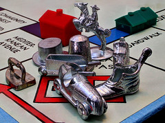 Still Life (arbyreed) Tags: game metal closeup close monopoly boardgame metalobjects macromondays arbyreed monopolygamepieces stilllifeasmallgrouping